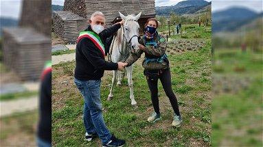 Dal Veneto alla Calabria in sella al suo cavallo, la giovane amazzone fa tappa a Campotenese